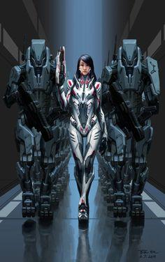 """Vigías, expertos asesinos gracias a los nano-bots que se encuentran en todo su cuerpo. Usan trajes especiales para evitar el sobrecalentamiento y muerte por los propios nano-bots. [Idea de """"Protocolo B""""]"""