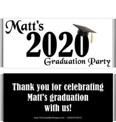 Change the color and or year of these graduation year candy wrappers to make them your own. They make great gradation party favors. Graduation Party Favors, Graduation Year, High School Graduation, Hershey Bar, Candy Bar Wrappers, School Colors, Text You, Elementary Schools, Black