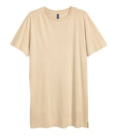 Long T-shirt | Beige | Men | H&M US