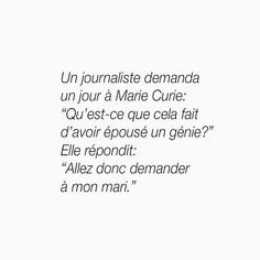 Marie Curie, Just Love, Like Me, Citations Photo, Jolie Phrase, French Quotes, Feminism, Wise Words, Quotations