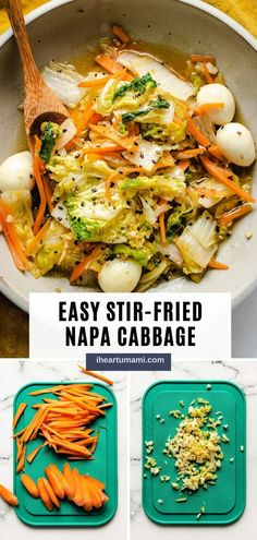 Stir-Fried Napa Cabbage with Quail Eggs is a savory Chinese cabbage stir-fry recipe that tastes sweet, extra juicy, and super easy to make! #cabbage #napacabbage #stirfry #asianrecipes #chineserecipes #vegetarianrecipes Paleo Recipes Easy, Whole 30 Recipes, Asian Recipes, Real Food Recipes, Vegetarian Recipes, Free Recipes, Asian Foods, Chinese Recipes, Egg Recipes