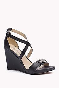 0d763dd3ed568a The Leather Wedge Sandal is the seasons highlight  from the latest Tommy  Hilfiger wedges  amp