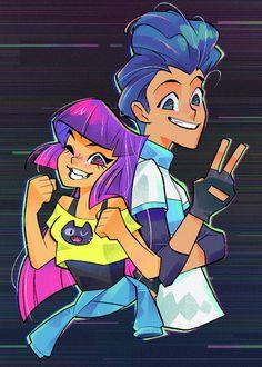 Cartoon Fan, Cartoon Tv Shows, Cartoon Art Styles, Character Design Animation, Character Art, Howl And Sophie, Cyberpunk Anime, Bugs, Fanart