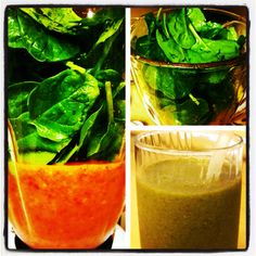 Green #Smoothie w/ spinach, strawberries, fresh banana & mango juice + 1 packet of Emergen-C immunity boost