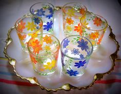 Old Juice Glasses