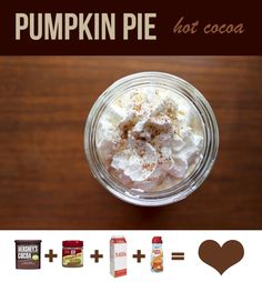 Pumpkin pie hot cocoa recipe!!!! ❤️❤️❤️
