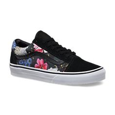 vans old skool flower