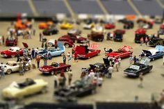 Tilt-shift photography refers to the use of camera movements on small- and medium-format cameras, and sometimes specifically refers to the use of tilt for selective focus, often for simulating a miniature scene. Tilt Shift Photography, Types Of Photography, Toys Photography, Photography Ideas, Photoshop Youtube, Photoshop Tutorial, Photoshop Actions, Tilt Shift Photos, Pretty Things