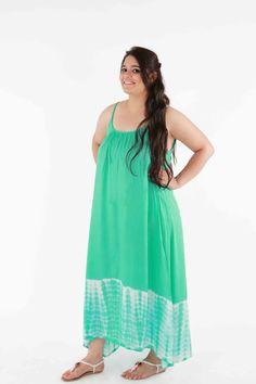 hi-low beach gown (green)