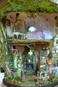 Fairy House  OOAK  Enchanted Bunny Hollow by KammysCreations, $1600.00