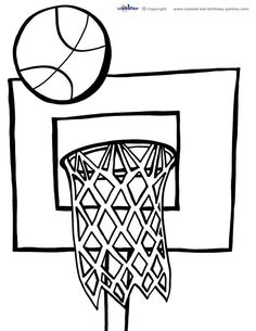 basketball coloring page pages | education | pinterest | colour ... - College Basketball Coloring Pages