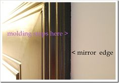 {mirror questions} | Sweet Pickins Furniture Installing molding on top of bathroom mirror