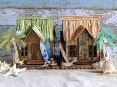 Beach house using Village Dwelling by Tim Holtz #2