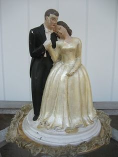 vintage wedding cake topper Retro good ole days Pinterest