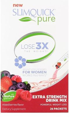 #Beauty #Health #weight loss drinks SLIMQUICK Pure Weight Loss Extra Strength Mixed Berry Drink Mix- 26 count 14.50      Item specifics     Brand:   SlimQuick    Expiration Date:   9/2018     Formulation:   Powder   ...