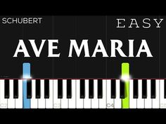 Schubert - Ave Maria | EASY Piano Tutorial - YouTube Piano Lessons For Kids, Music Lessons, Piano Songs, Piano Music, Learn Piano Beginner, Music Keyboard, Easy Piano Sheet Music, Piano Tutorial, Playing Piano