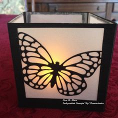 Butterfly Basics Lumanary-Small by Lmaco - Cards and Paper Crafts at Splitcoaststampers