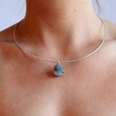 Stone Pendants, My Etsy Shop, Pendant Necklace, Silver, Shopping, Jewelry, Jewlery, Money, Jewels