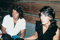 Princess Caroline and tennis player Guillermo Vilas, at a restaurant in Tirol.1982.