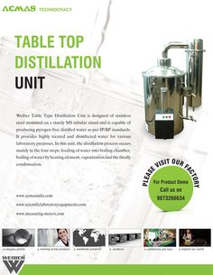 Table Top Distillation Unit Distilled Water, The Unit, Table, Top, Design, Products, Tables, Desk