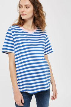 MATERNITY Contrast Neck T-Shirt   Topshop