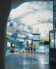 Itakeskus underground swimming complex. Check out Helsinki's underground shadow city.