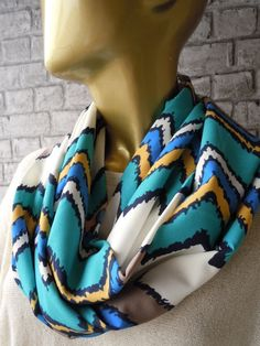 SALE WAS' 25 usd NOW 18.90 Blue Mustard White by bosphorusscarf