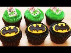 HOW TO MAKE BATMAN CUPCAKES - NERDY NUMMIES - YouTube