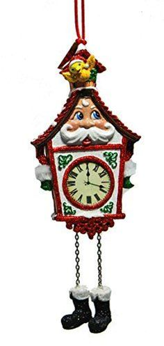Katherines Collection Santa Cuckoo Clock Hanging Ornament Red >>> Be sure to check out this awesome product.
