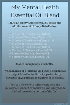 I like the combo of oils, but this would be REALLY strong for a bottle. Using my doTERRA oils, I would dilute much further. Essential Oils For Depression, Essential Oils For Anxiety, Essential Oils Guide, Essential Oil Bottles, Doterra Essential Oils, Peppermint Essential Oil Uses, Essential Oils Energy, Stress Relief Essential Oils, Essential Oil Candles