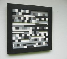 Art Painting Modern Abstract - Wood Sculpture Black and White