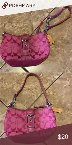 818aeaaa145 Authentic Coach small pink purse Authentic Super cute Pink Mini purse Can  be held as wristlet purse Perfect to go out Coach Bags Mini Bags
