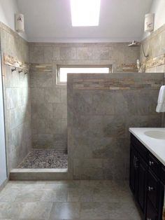 20 Enviable Walk-In Showers - Stylish Walk-in Shower Design Ideas 3 Modern Small Bathroom Ideas - Gr Master Bathroom Shower, Bathroom Renos, Modern Bathroom, Bathroom Ideas, Bathroom Showers, Basement Bathroom, Narrow Bathroom, Bathroom Shower Remodel, Small Bathrooms
