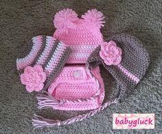 Babyfotografie Set Babymütze und Windelhose
