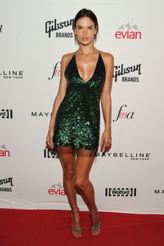 Alessandra Ambrosio in Marc Jacobs attends The Daily Front Row Second Annual Fashion Media Awards. #bestdressed