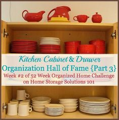 Awesome inspiration for anyone wanting to see real life examples of people who've decluttered and organized their kitchen cabinets and drawers {on Home Storage Solutions 101}