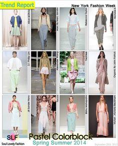 Pastel Colorblock  Fashion #Trend for Spring Summer 2014 #Spring2014 #Color #Trends  #pastel