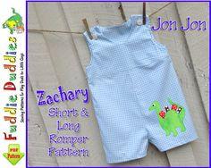Baby Boys Romper Pattern, Jon Jon Pattern, Longall Pattern,  pdf sewing pattern. INSTANT DOWNLOAD. Short and Long Romper Pattern, 9mo-4t