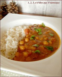 Le meilleur curry de pois chiches au lait de coco