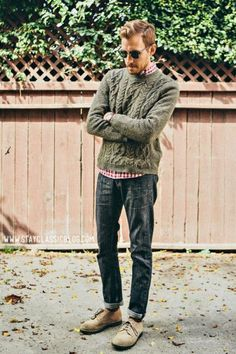 INSPIRATION ONLY- Men's Cable Knit Style | Famous Outfits