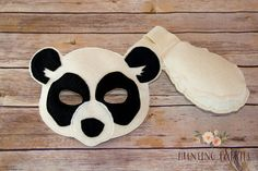 Peter and Penelope Panda Bear Pretend Play Mask by HuntingFaeries
