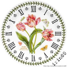 Decoupage, Clock Flower, Framed Burlap, Clock Art, Circle Pattern, Time Art, Hobbies And Crafts, Cute Pictures, Parrot