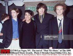 Las Vegas NV The cast of 'That 70's Show at The 1998 Billboard Music Awards held at the MGM Grand in Las Vegas From lr Topher Grace Wilmer Valderrama...