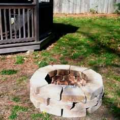 Our DIY fire pit.