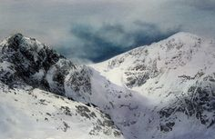 Craig y Cau and Cader Idris, Limited Edition Print (Giclee) from an original watercolour painting by Rob Piercy