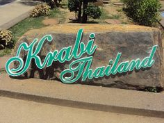 Krabi, Thailand Krabi Town, Costa, Krabi Thailand, Cambodia, Destinations, Neon Signs, Country, Travel, Viajes