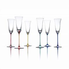 Asprey - Murano Glass Champagne Flutes set of 6 $1,800