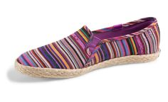 Keds Champion Jute Slip On Shoes: This looks like one of those poncho shirts that hippie-types wear. But for your feet.
