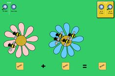 Bee Swarms: A simple activity for adding using bees.