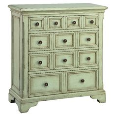 Hand-painted+4-drawer+chest+in+mint+green.  +  Product:+ChestConstruction+Material:+MDFColor:+Min...